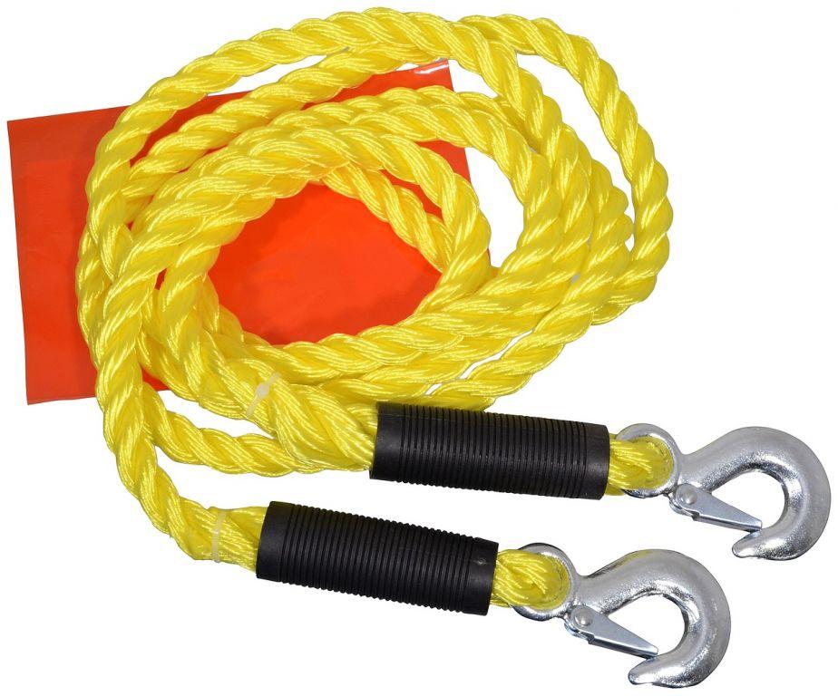 Tažné lano s karabinami - 3,4 m