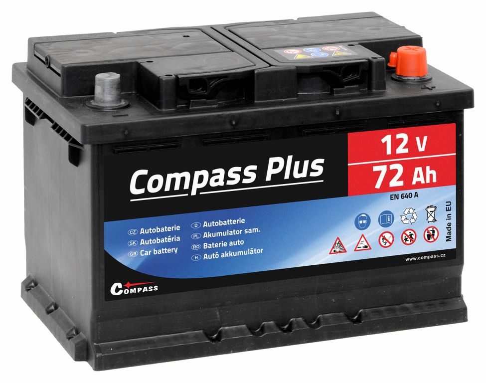 Compass PLUS 12V 72Ah 640A am27564