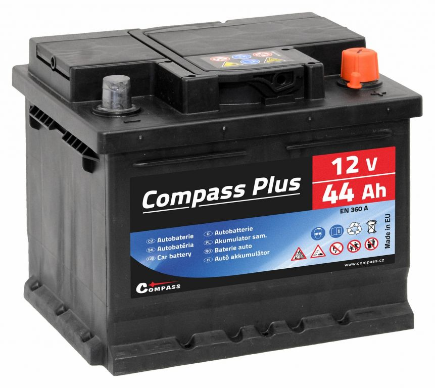 Compass PLUS 12V 44Ah 360A am27561