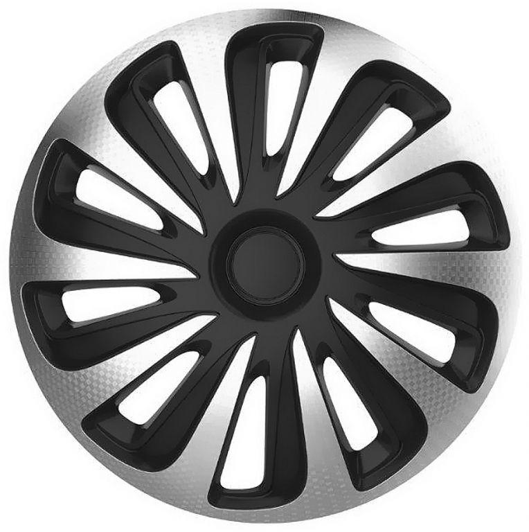 """Sada krytů kol Caliber Carbon 15"""" - černo/stříbrná"""