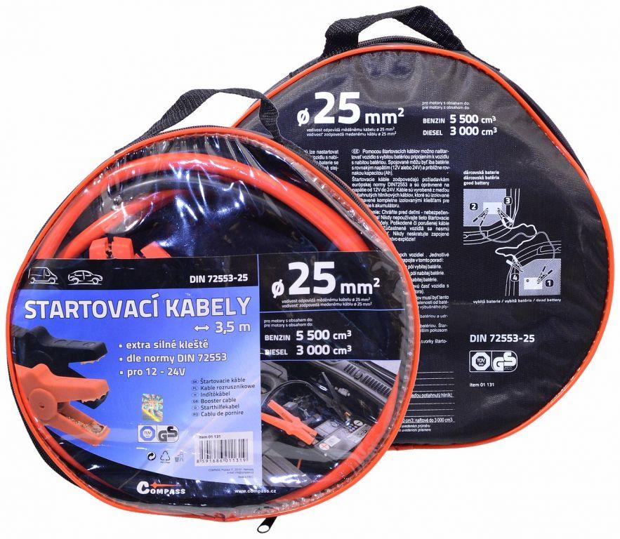 Startovací kabely – 3,5m, TÜV/GS