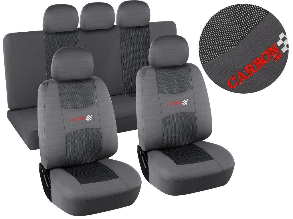 Potahy sedadel Airbag, šedé, sada 9 ks