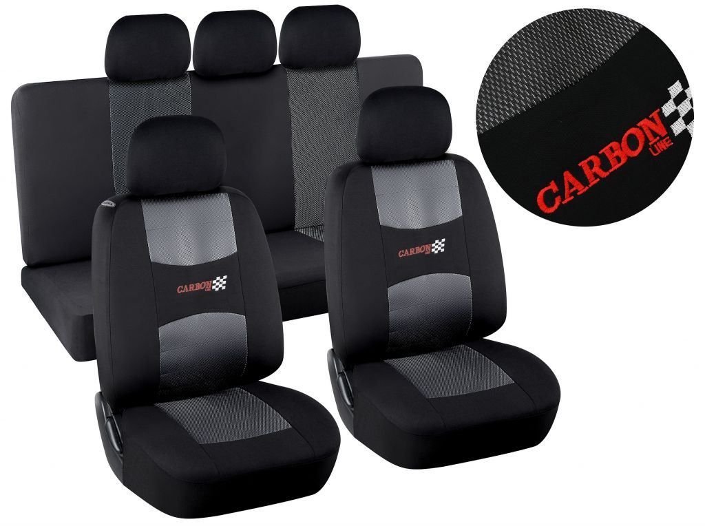 Potahy sedadel Airbag Dark, sada 9 ks