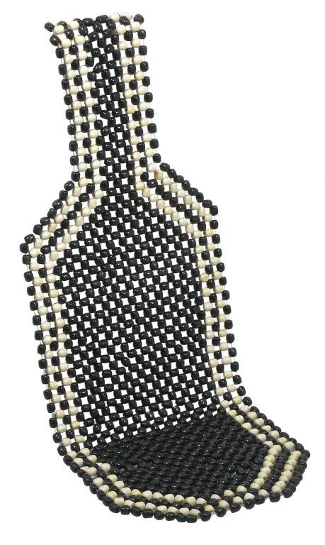 Potah sedadla kuličkový - 127 x 38 cm, černý
