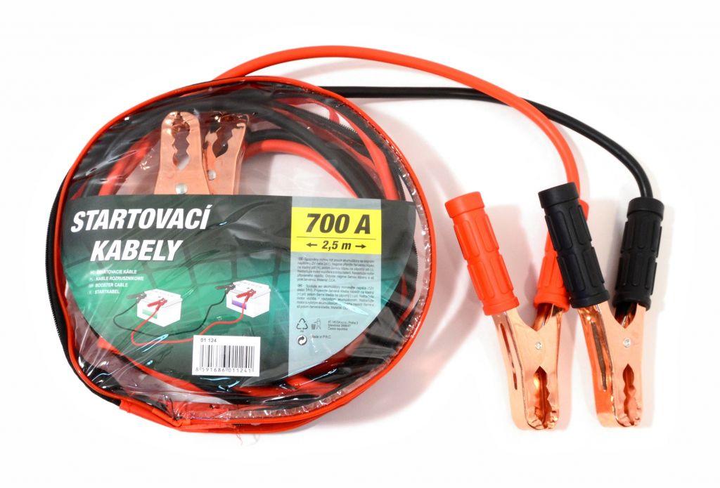 Startovací kabely 700 A, 250 cm, zipper bag