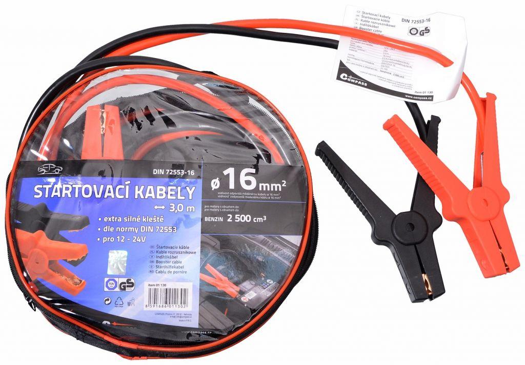 Startovací kabely 3 m, TÜV/GS