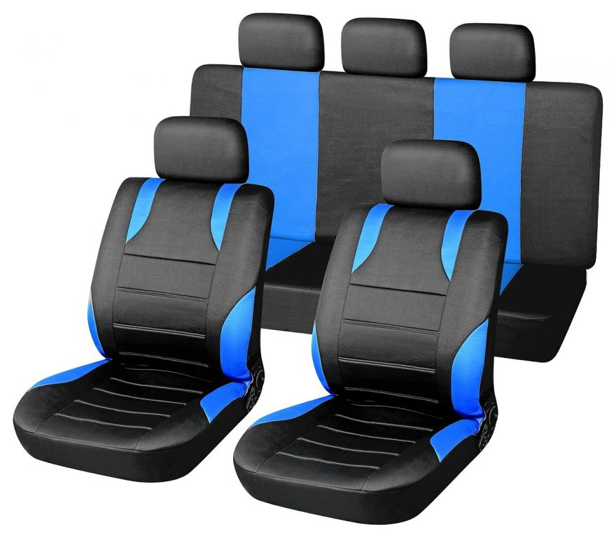 Potahy sedadel sada 9 kusů Sport - modré