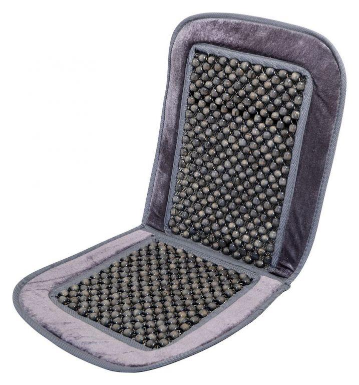 Potah sedadla kuličkový s lemem - 93 x 44 cm, šedý