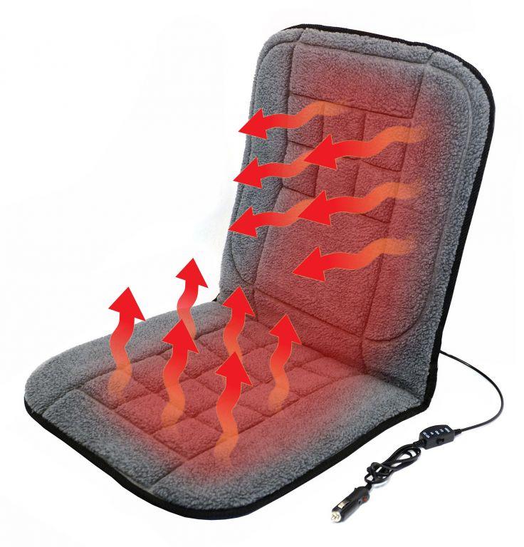 Potah sedadla vyhřívaný s termostatem - 12V TEDDY, přední