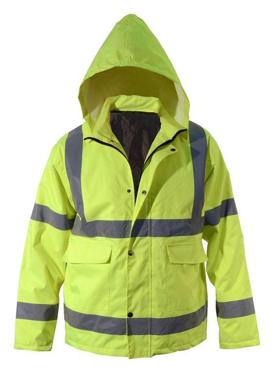 Reflexní bunda s kapucí  - XL