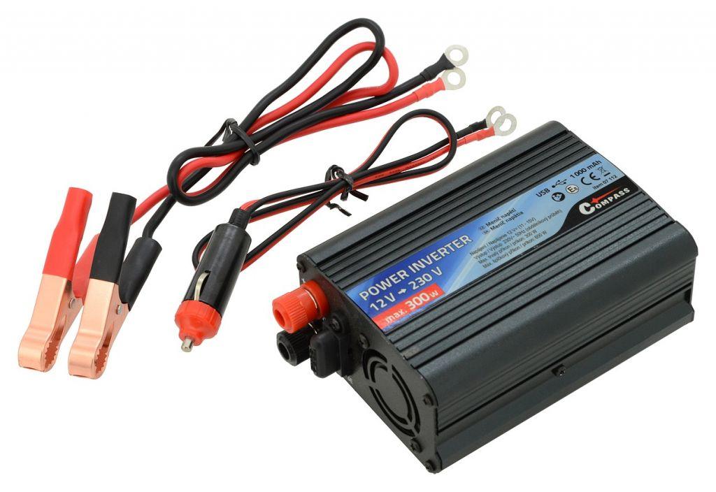 Trafo 12/230 V 300 W + USB