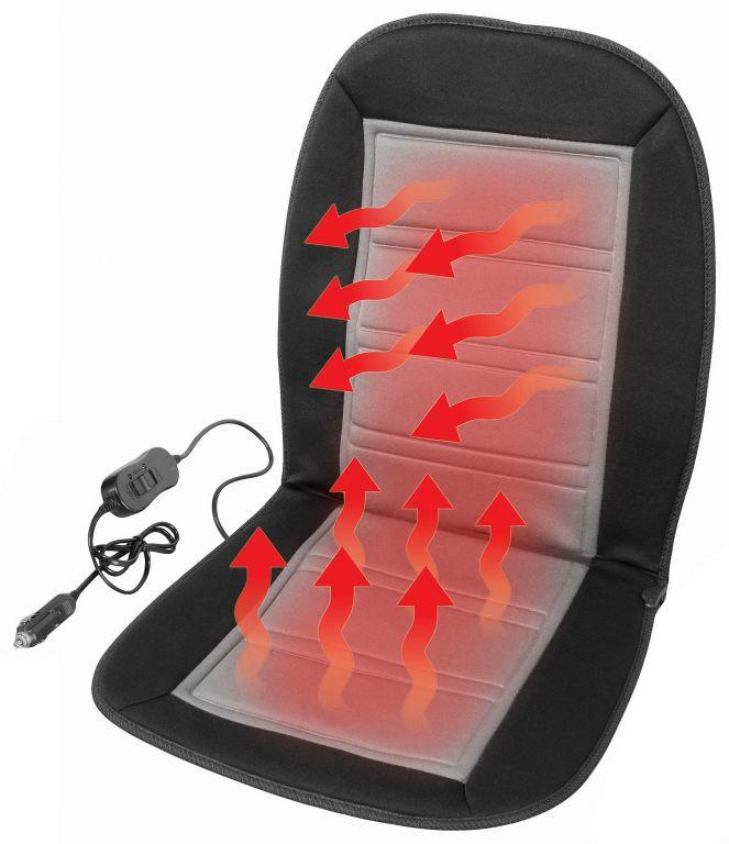 Potah sedadla vyhřívaný s termostatem - 12V LADDER, šedý