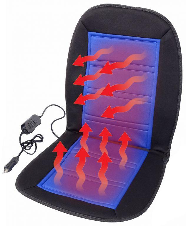 Potah sedadla vyhřívaný s termostatem - 12V LADDER, modrý