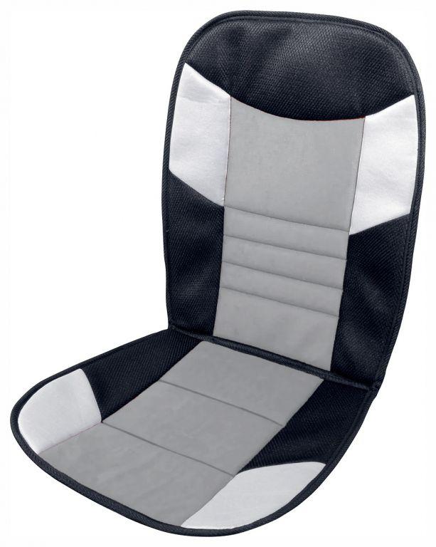 Potah sedadla Tetris - 46 x 102 cm, černo/šedý