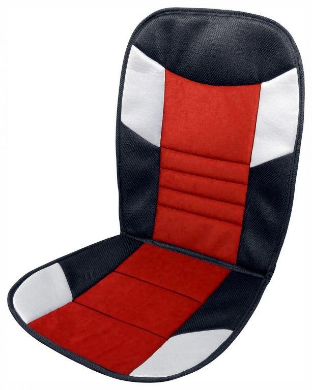 Potah sedadla Tetris - 46 x 102 cm, černo/červený