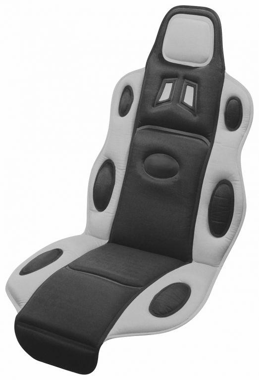 Potah sedadla Race - univerzální, černo/šedý