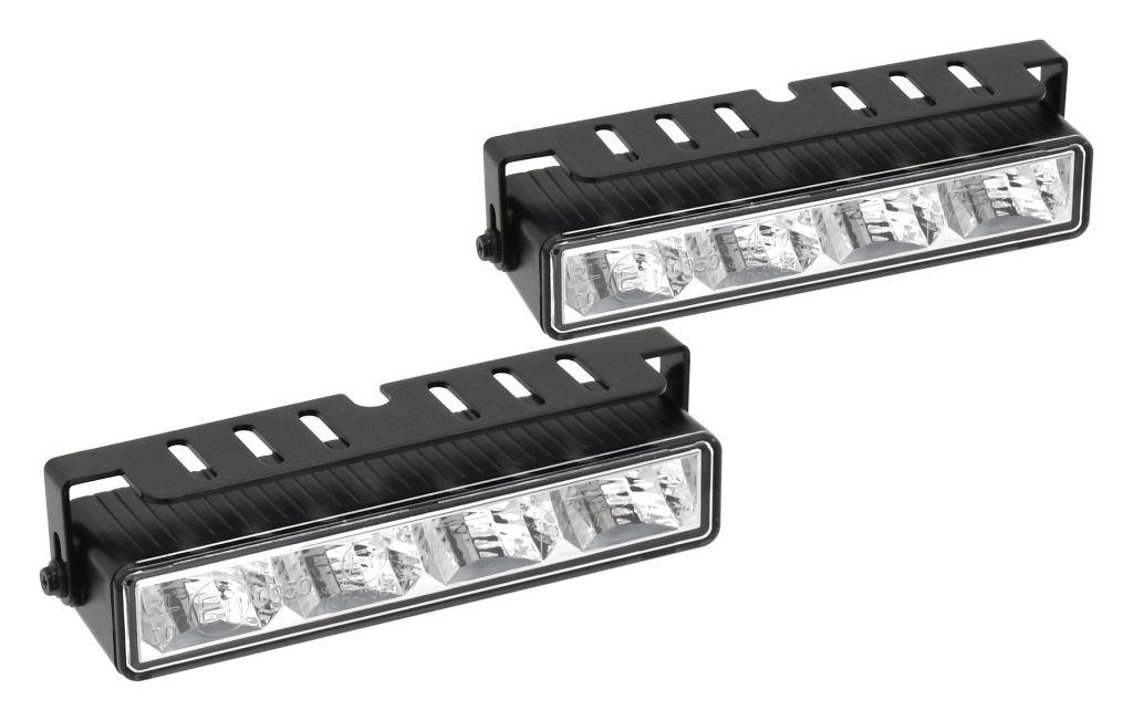 Světla denního svícení, 4 high power LED, 12V/24V