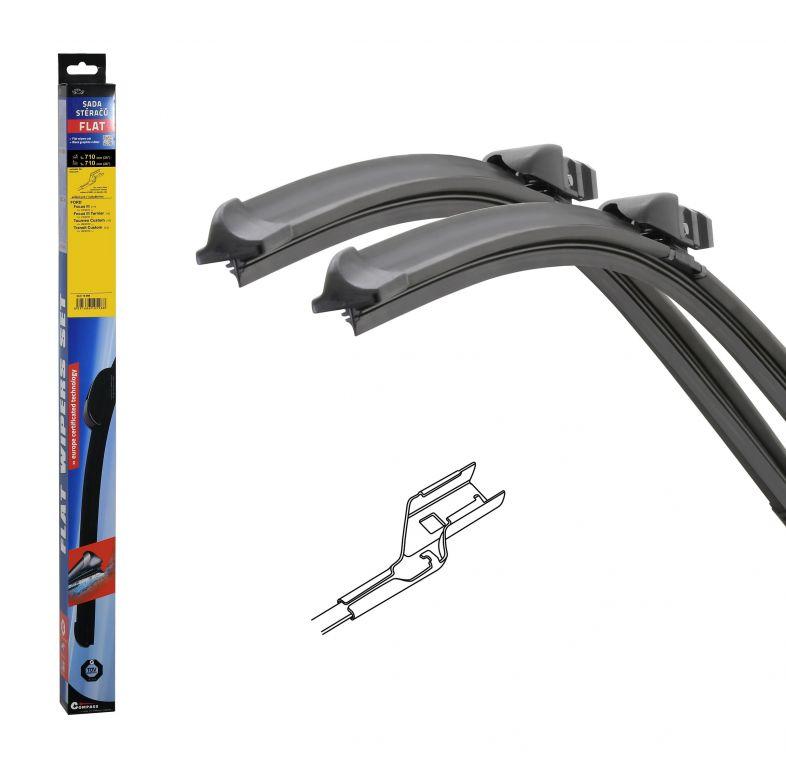 Stěrače FLAT SET (CUBE) - 710 + 710 mm