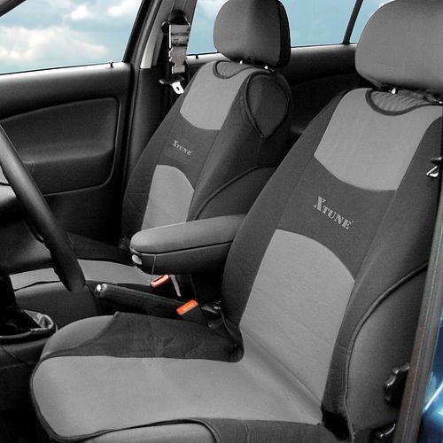 Potah sedadla TRIKO přední  - tmavě šedý, 2 ks