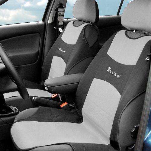 Potah sedadla TRIKO přední - 2 ks, šedý