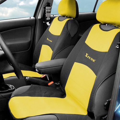 Potah sedadla TRIKO přední - žlutý, 2 ks