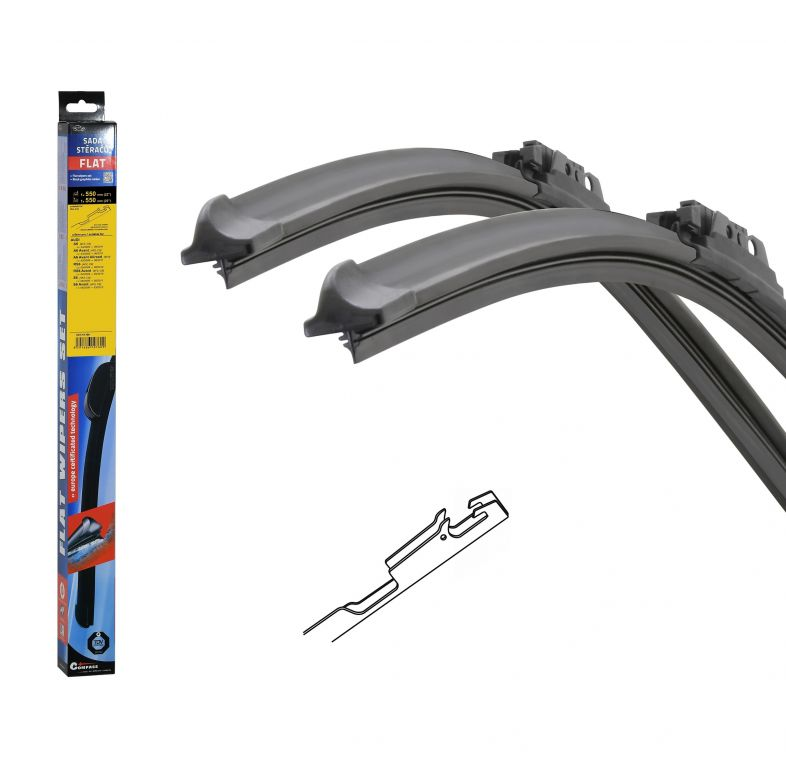 Stěrače Flat set (Bone) - 550 + 550 mm
