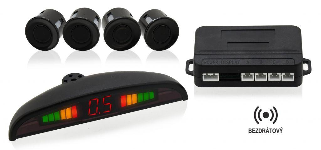 Parkovací asistent - 4 senzory, LED display, bezdrátový