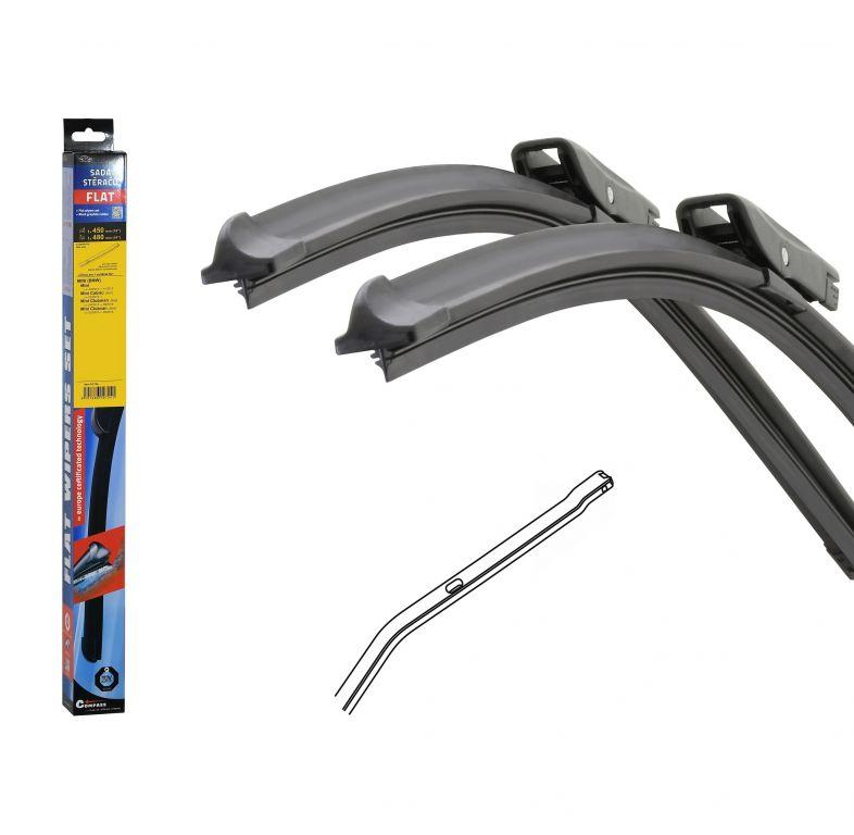 Stěrače Flat set (bolt) - 450 + 480 mm