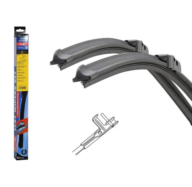 Stěrače Flat set (pin) - 530 + 480 mm