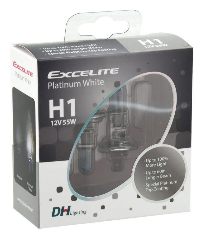 Žárovka Excelite H1 CHROME - 12 V, 55 W, 2 ks