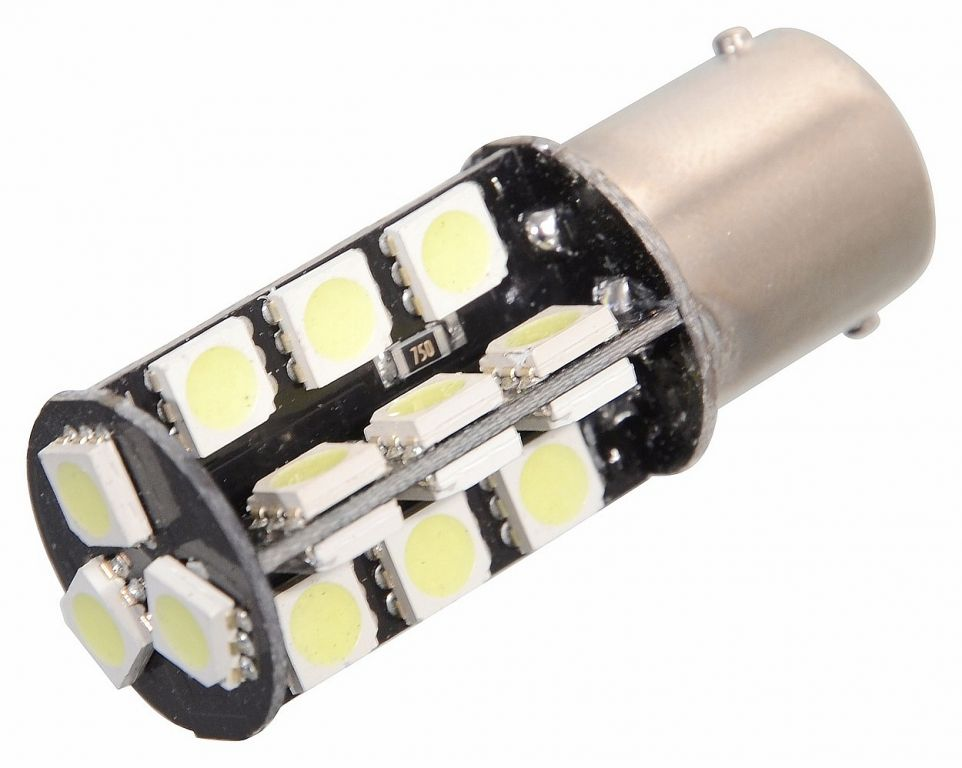 Žárovka 27 SMD LED 12V, s rezistorem CAN-BUS ready bílá