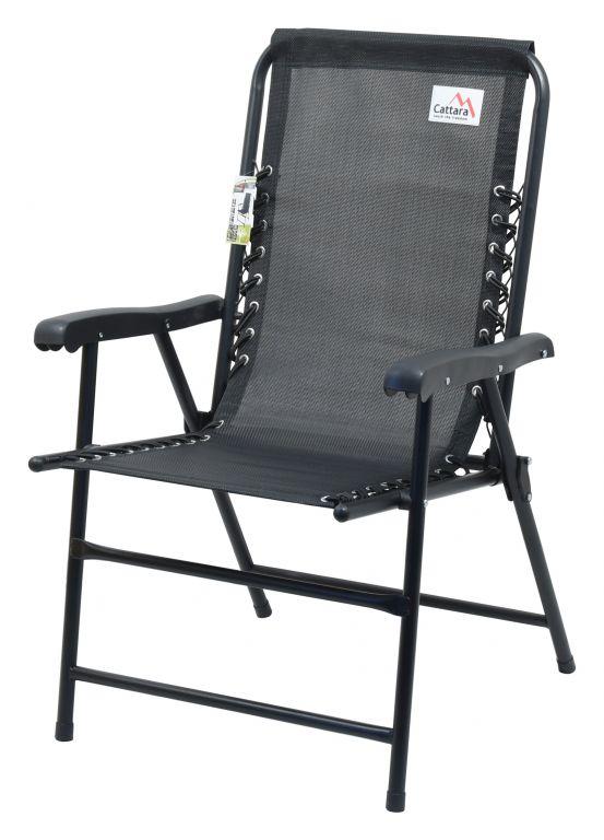 Zahradní skládací židle Terst - 59 x 95 x 67 cm, černá