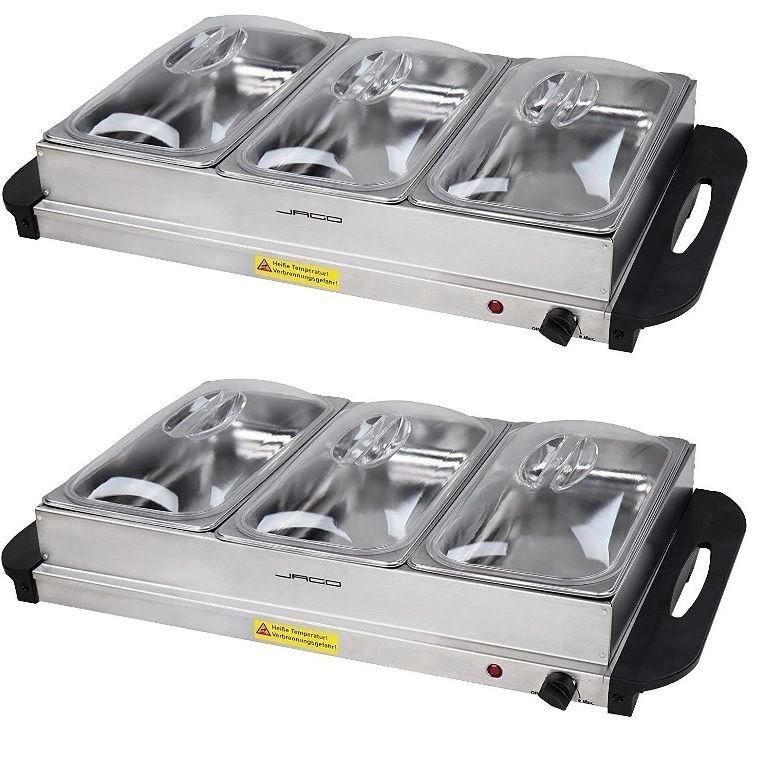 Multifunkční bufetový ohřívač jídel, sada 2 kusů, 200 W