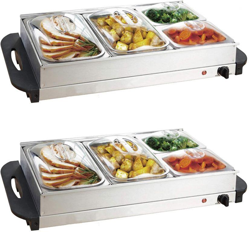 Multifunkční bufetový ohřívač jídel, sada 2 kusů, 150 W