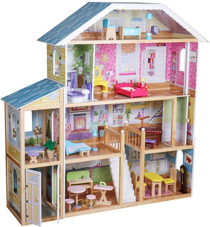 Velký dřevěný domeček pro panenky, 1190 x 316 x 1234 mm
