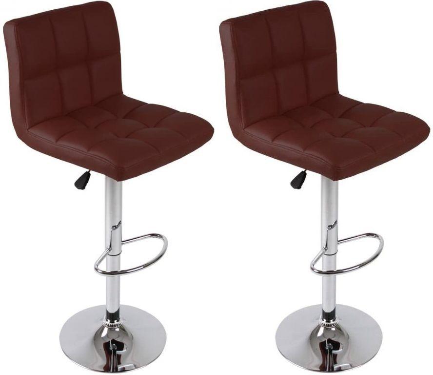 Sada barových židlí, červená, 2 ks