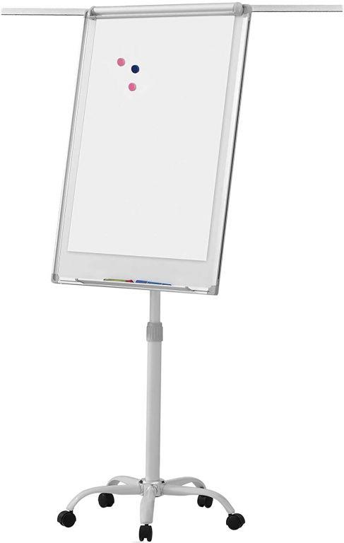 Flipchart tabule na kolečkách, bílá, 60 x 90 cm