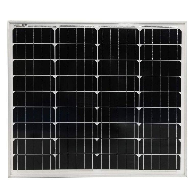 Fotovoltaický solární panel, 50 W, monokrystalický