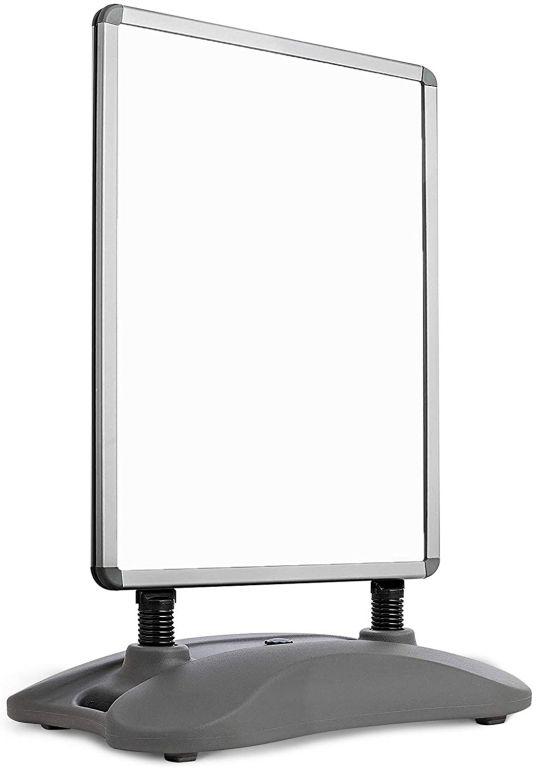Reklamní stojan, stříbrný