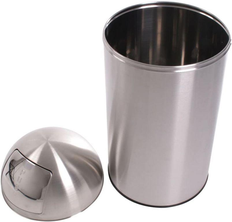 Odpadkový koš 50 l, stříbrný, push