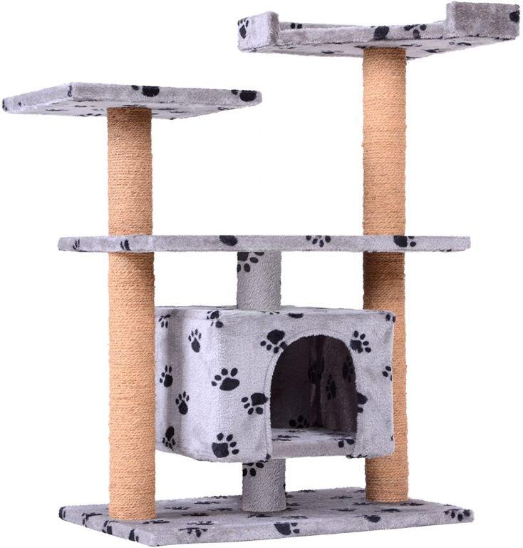Škrabadlo s odpočívadlem pro kočky, 80 x 43 x 89 cm