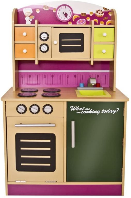 Dětská kuchyňka, dřevěná, 61 x 100 x 33 cm