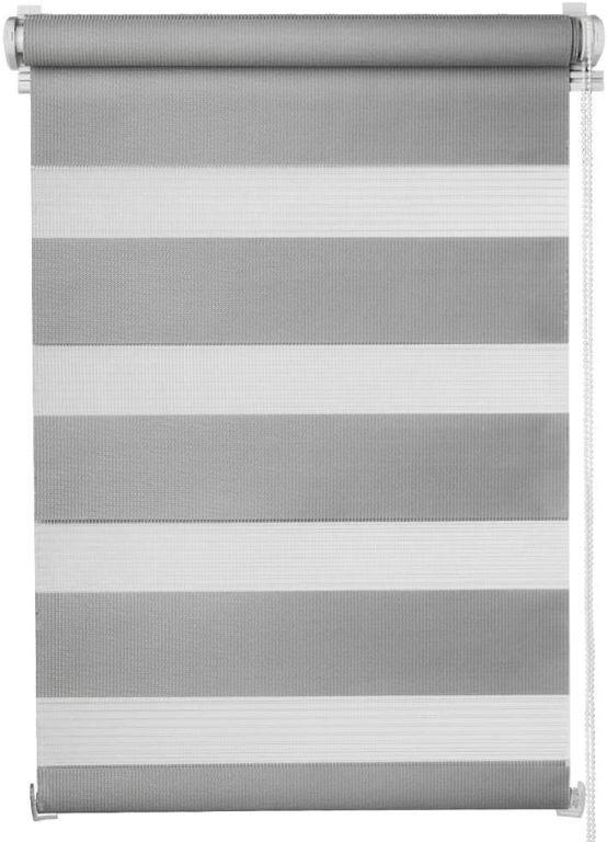 Dvojitá roleta, 120 x 230 cm, šedá