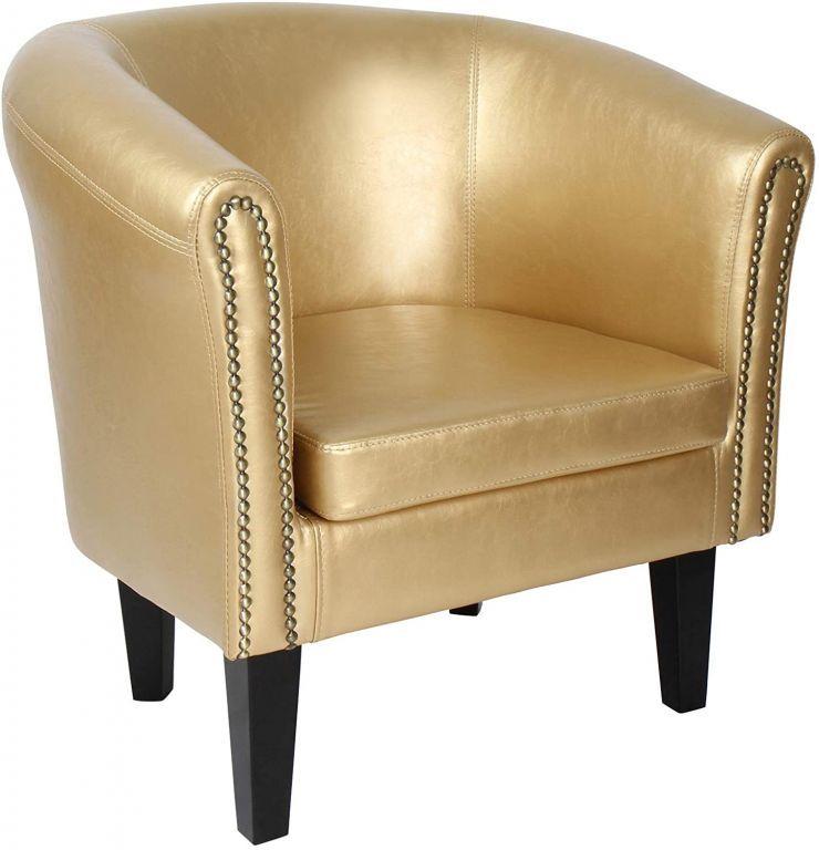Křeslo Chesterfield, 58 x 71 x 70 cm, zlaté