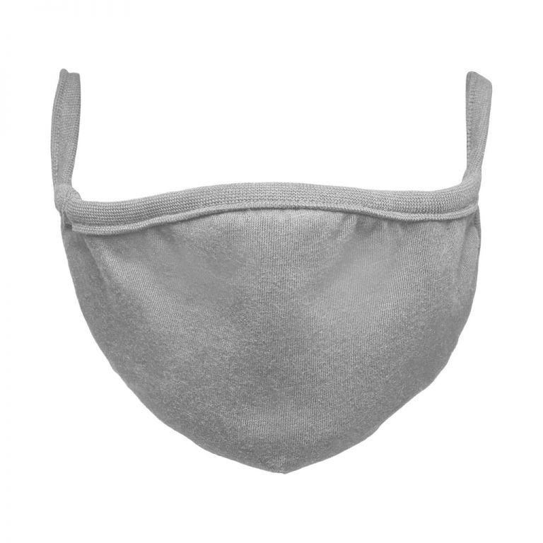 Bavlněná rouška dvouvrstvá - šedá, 10 ks