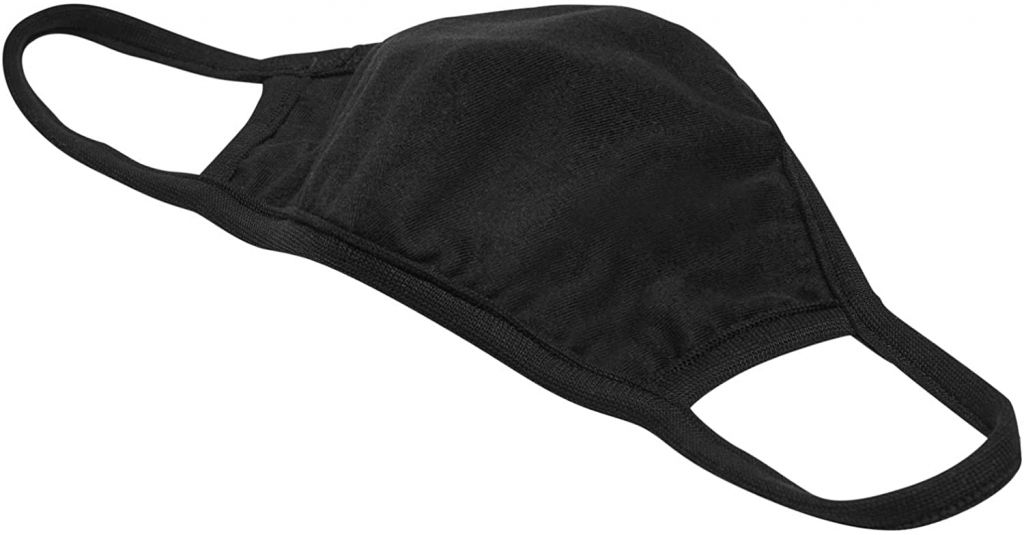 Bavlněná rouška dvouvrstvá - černá, 10 ks