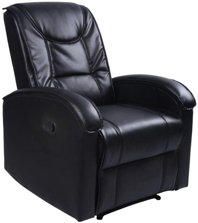 Televizní křeslo, černé, 80 x 92 x 98 cm