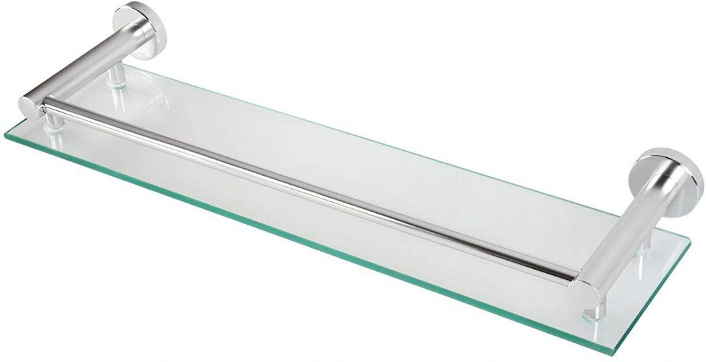Skleněná police do koupelny, 50 x 3 x 14 cm
