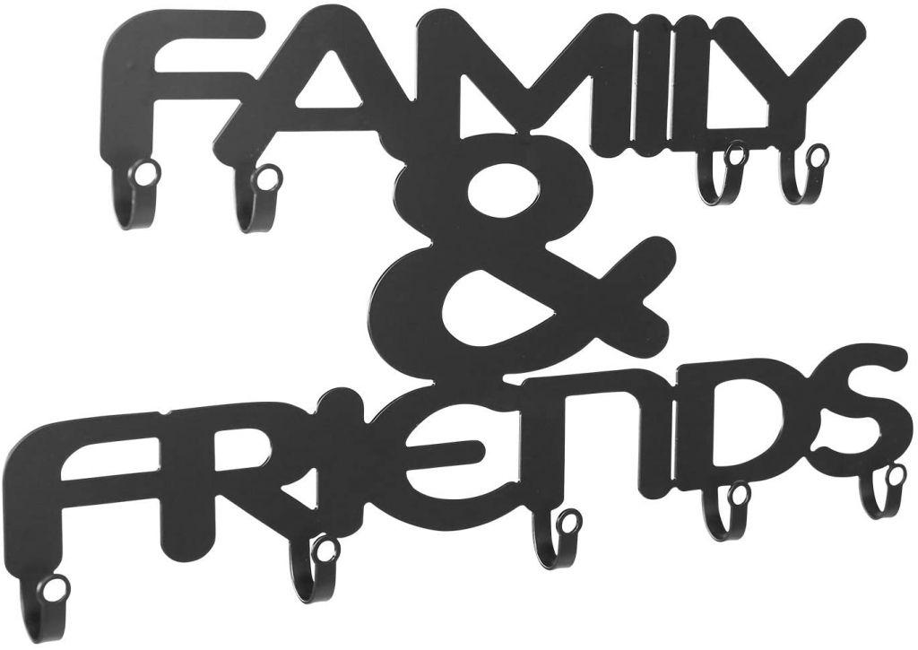 Nástěnný věšák s devíti háčky, Family & Friends