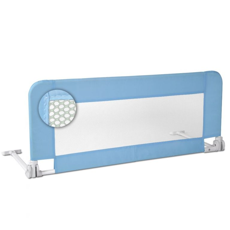 Dětská zábrana na postel, 102 cm, modrá